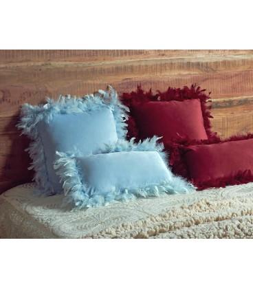 Cojines plumas azul Bufy
