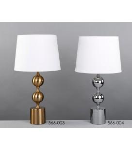 Lámparas de mesa OLMOS plata o dorada