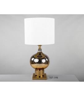 Lámpara de sobremesa cristal dorada DULL