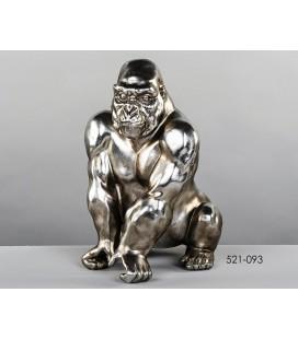 Figura de diseño gorila plata