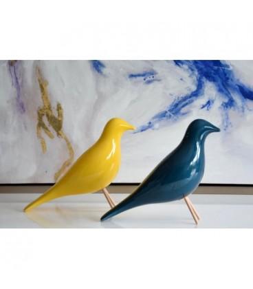 Figura decorativa Pájaro río azul