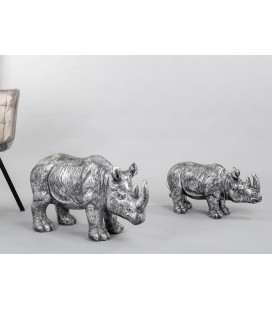 Figura rinoceronte plata gigante