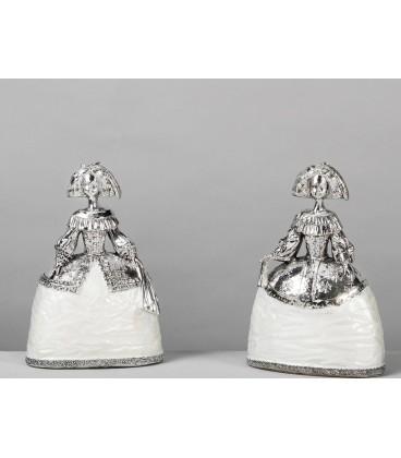 Figuras de decoración Menina plata
