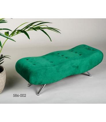 Banqueta verde pie de cama tela Aris