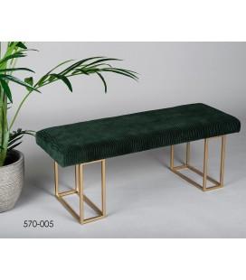 Pie de cama Zulema verde