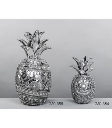 Figura decoración piña plata