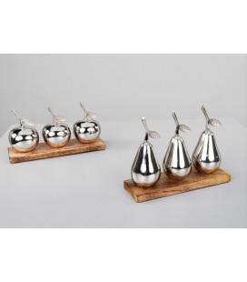 Figura decoración peras plata