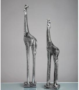 Figuras decoración jirafas plata Rafa