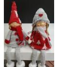 Muñecas cuelga piernas gnomos rojos y grises