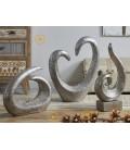 Figura decoración abstracto Lagos plata