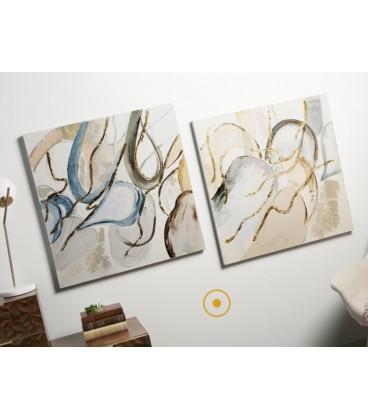 Pareja de cuadros abstractos GLOW