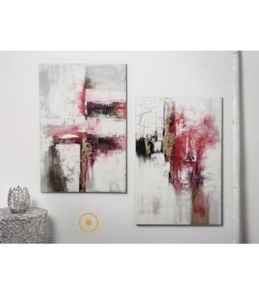 Pareja de cuadros abstractos RED