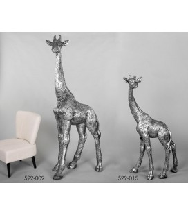 Figuras decoración jirafas gigante Oscar plata