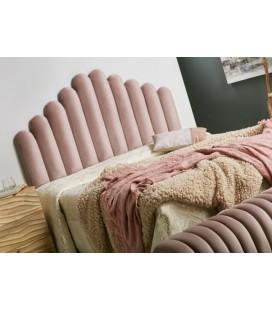 Cabecero de cama capitone rosa Ariel