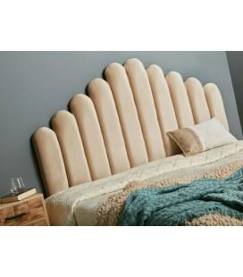 Cabecero de cama capitone beige Ariel