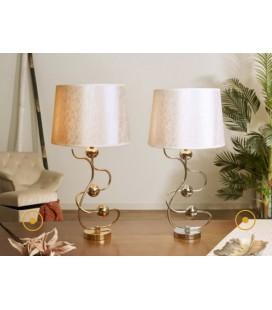 Lámparas de mesa Tor plata o dorada